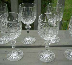 DIAMOND CRISS CROSS CRYSTAL CUT GLASS BOHEMIA GOBLET