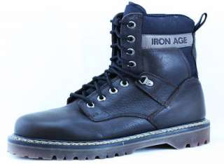 Mens Iron Age 745 Steel Toe EH Boots New 8 W