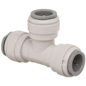 John Guest Acetal Copolymer Tube Fitting, Union Tee, 1/2 Tube OD