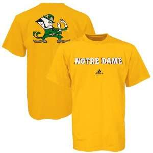 adidas Notre Dame Fighting Irish Gold Prime Time T shirt