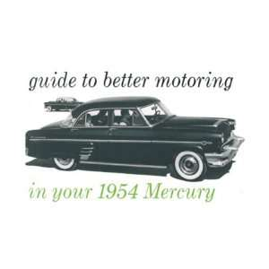 1954 MERCURY Full Line Owners Manual User Guide