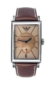 Emporio Armani Mens AR0127 Tan Leather Watch Watches