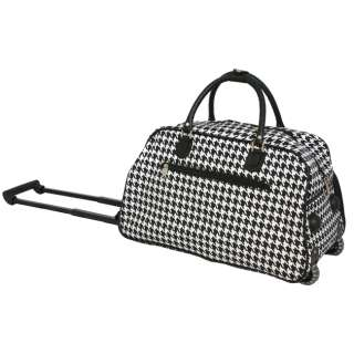 WORLD TRAVELER 21 ROLLING DUFFEL BAG HOUNDSTOOTH $75