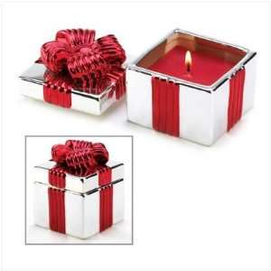 Red Gift Box Candle