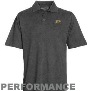 Cutter & Buck Purdue Boilermakers Charcoal Black DryTec