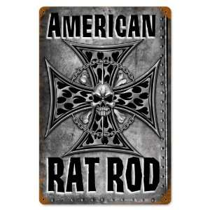 American Rat Rod Vintaged Metal Sign