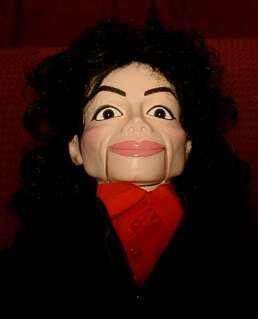 Michael Jackson Tribute Ventriloquist Doll Dummy OOAK