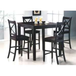 Yuan Tai Jerome 4 Pc Pub Set Pub Table, 4 Pub Chairs