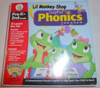Leapfrog LeapPad Phonics Program 10 Book Set PreK 2nd