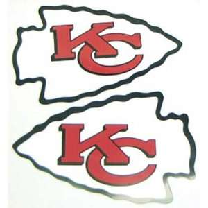 Kansas City Chiefs NFL 12 Car Magnet (Set of 2) Sports