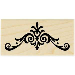Scallop Scroll   Rubber Stamp