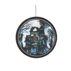 Pack of 2 LED Lighted Haunted House Halloween Wall