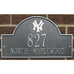 New York Yankees MLB Personalized Address Plaque   Pewter