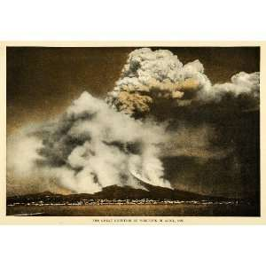 1907 Print Eruption Mt. Vesuvius Italy Naples Volcano