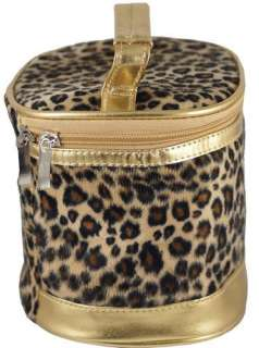 New Fashion Brown Leopard Print Fluffy Small Cosmetic Bag #B067