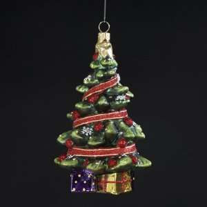 with Ribbon & Gifts Polonaise Christmas Ornament 4.5