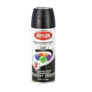 Glossy Black Interior/Exterior Decorator Spray Paint 51601