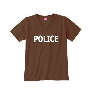 POLICE on Womens V Neck T Shirt (in 21 colors) Sports