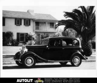 1934 Ford 4 Door Sedan Factory Photo