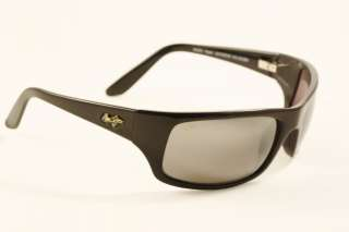 Maui Jim PEAHI Gloss Black w/ Neutral Grey 202 02 NEW