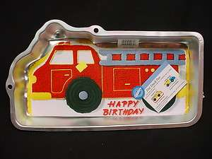 Wilton FIREFIGHTER FIRE ENGINE cake pan FIREMAN TRUCK mold tin INSERT