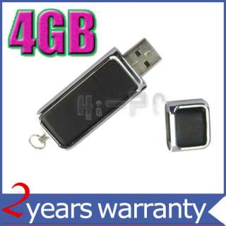 New 4GB Black Leather USB Flash Memory Drive Iron Cover
