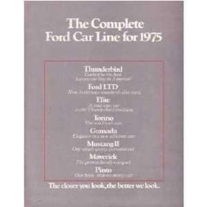1975 FORD Sales Brochure Literature Book Piece Automotive