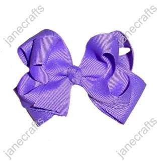 BIG Solid Grosgrain BABY/GIRL Hair Bows in Lavender 24PCS WHOLESALE