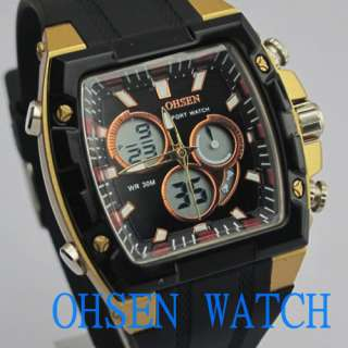 OHSEN Sport Mens Chronograph Alarm Stop Watch New