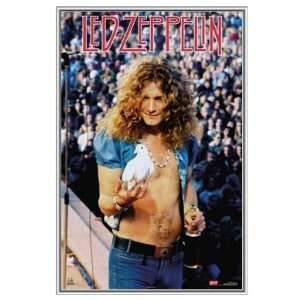 Robert Plant Led Zeppelin 1973 Framed Poster   Quality
