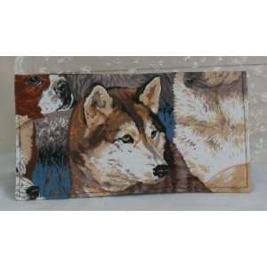 Dog Dogs Dalmation German Shepherd Fabric Checkbook 5695