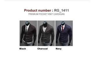 Mens Premium Casual Shawl Knit Sweaters Cardigan Collection 2 (SizeS