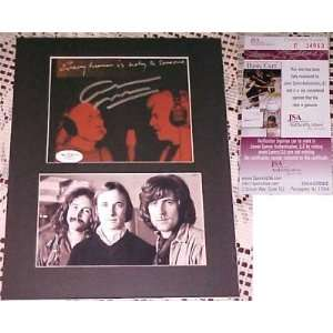 Graham Nash CD Back Cover Signed MATTED JSA CSNY  Sports