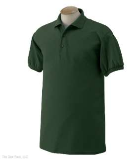 New Gildan Mens Ultra Blend Jersey Polo Sport Shirt