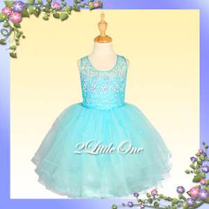 Wedding Flower Girl Pageant Holiday Party Dress 12M 4T