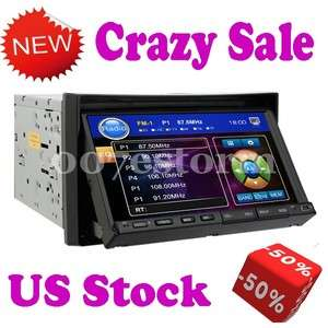Car Stereo CD VCD DVD USB Player  SD Double 2 Din In Dash Radio