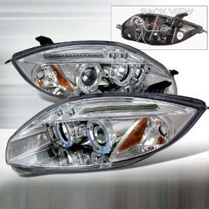 06 08 Mitsubishi Eclipse Projector Headlights   Chrome