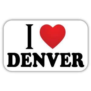 I Love DENVER Car Bumper Sticker Decal 5 X 3 Everything