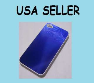 NEW BLUE HARD CASE COVER FOR IPHONE 4 + ANTI GLARE SCREEN PROTECTOR AT