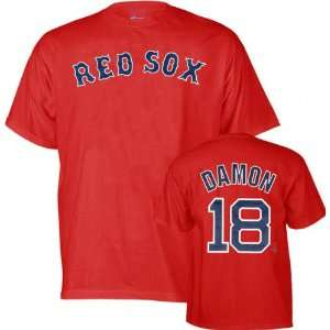 Johnny Damon Majestic Name and Number Boston Red Sox Kids