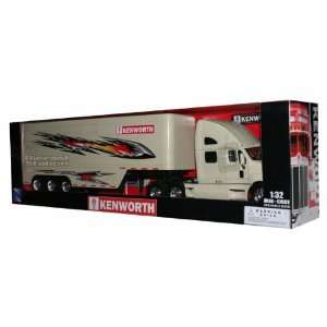 KENWORTH T2000 TRUCK TRAILER DIE CAST 1/32 CREAM NEW Toys