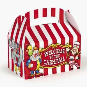 Big Top Treat Boxes   Party Favor & Goody Bags & Paper