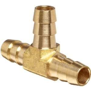Anderson Metals Brass Hose Fitting, Tee, 5/16 x 5/16 x 5/16 Barb