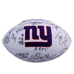 Giants 2011 Team Hand Signed Autographed Logo Football Everything