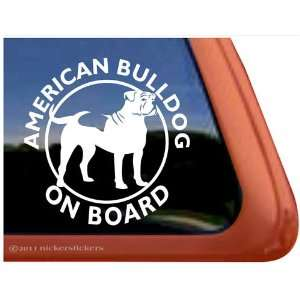 American Bulldog on Board Vinyl Window Decal Sticker