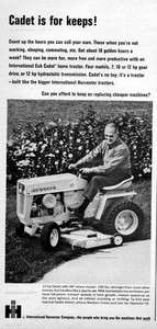1967 International Cub Cadet Mini Tractor Original Ad