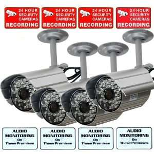 Home Surveillance System with Free Security Warning Decals WAV Camera