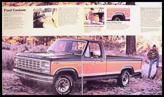 1980 Ford Pickup Truck Brochure F150 F100 Ranger Custom