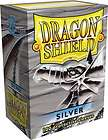 DRAGON SHIELD SILVER 100 DECK PROTECTIVE CARD SLEEVES MAGIC THE