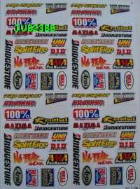 POCKET DIRT BIKE HELMET STICKER KIT DECAL MOTORCYCLE